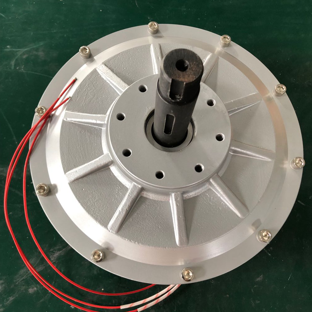 Fasty energy 1000W 1KW 1000RPM AC Disc PMG Inner Rotor Three Phases Coreless Permanent Magnet Generator Alternator