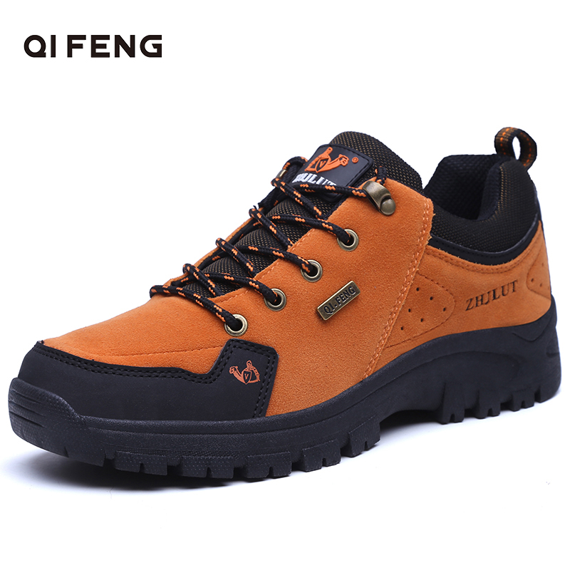 Men Women Outdoor Sports Hiking Boots Wear Resisting Casual Shoes Couple Walking Sneakers Popular Fashion Trekking Footwear in Hiking Shoes from Sports Entertainment