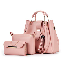 New 3pcs/set Women Bag Fashion High Quality Lady Handbag PU Leather Female Shoulder Bag Tote Messenger Purse Bag bolsa feminina