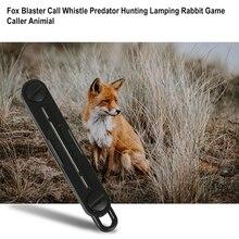 1 ПК открытый лиса пух лиса бластер вызов свисток охота инструменты кемпинг вызов кролик игра вызывающий животное дропшиппинг