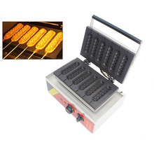 SUCREXU Muffin Hot Dog Machine Commercial Nonstick Electric 6PCS Lolly Waffle Dog on A Stick Maker Baker CE 110v 220v недорого