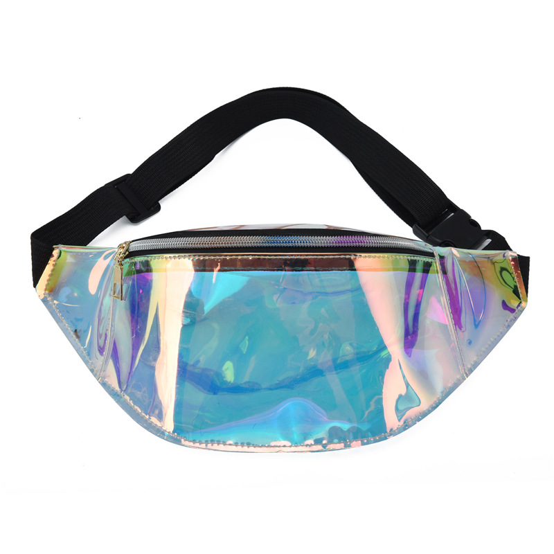 New Waist Pouch Transparent Fanny Bag Fanny Pack Sac Banana Femme Fanny Packs Kidney Bag Hip Hop Pouch Laser Femme Chest Bag