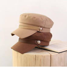 Army-Hat Military-Cap Flat-Top Women Autumn Winter And Wool MAXSITI Eaves Square Designer's