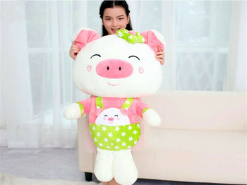 90Cm Giant Big Huge Pig Stuffed Animals Plush Soft Toys Doll Kids Xmas Gift New Toys For Children 220cm stuffed animals giant removable crocodile doll for decorative pillows kids toys valentines day gift juguetes brinquedos
