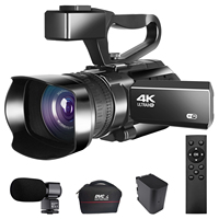 Cámara Digital Vlogging 4K con Zoom 30X, videocámara de 48MP para YouTube, transmisión en vivo, WiFi, visión nocturna