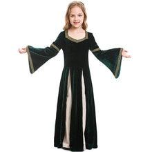 Umorden fantasía Niño niños renacimiento Medieval vestido para chicas adolescentes gótico princesa de Halloween fiesta de Purim trajes