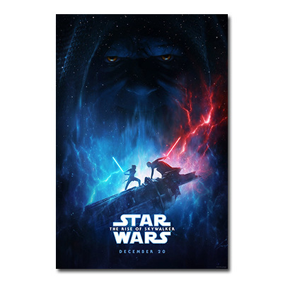 2019 Star Wars 9 Movies Poster The Rise Of Shywalker Jedi Knight Posters And Prints Wallpaper Canvas Painting For Living Room Painting Calligraphy Aliexpress