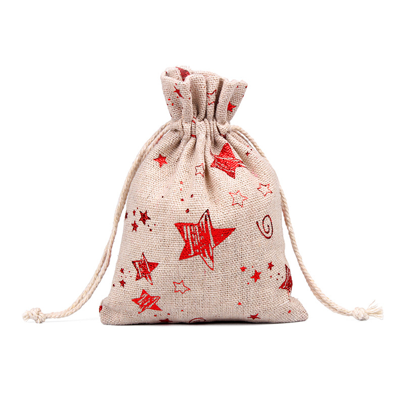 Image 3 - 50pcs 10x14 13x18cm Burlap Christmas Gift Bag Jewelry Packaging Bags Wedding Party Decoration Drawable Bags Sachet Pouches 55-in Gift Bags & Wrapping Supplies from Home & Garden
