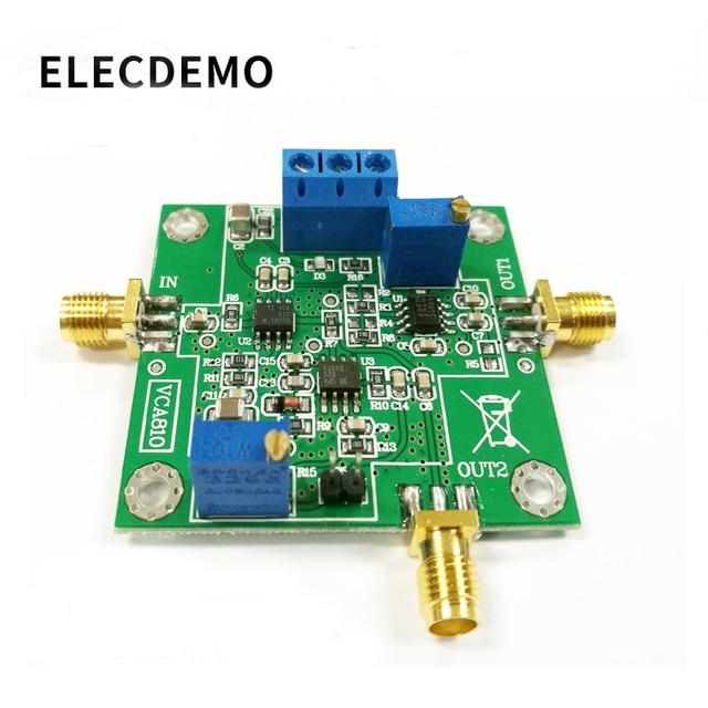 Gain Amplifier VCA810 Module AGC Module Broadband Voltage Controlled Gain Amplifier board Adjustable DA Programming Control