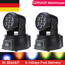 Moving Head Disco Licht DJ Zeigen DMX 512 RGBW LED Bühne Licht Strahl Party Lichter Led Dj Weihnachten Weihnachten Sound aktive LED Par Licht