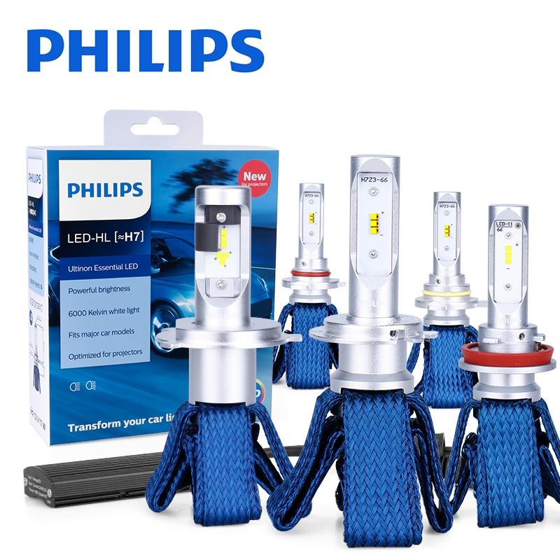 Philips H7 светодиодный H4 H8 H11 H16 9005 9006 9012 HIR2 HB3 HB4 Ultinon Эфирное светодиодный лампы для автомобилей 6000 К авто фары Противотуманные огни комплект из 2 ...