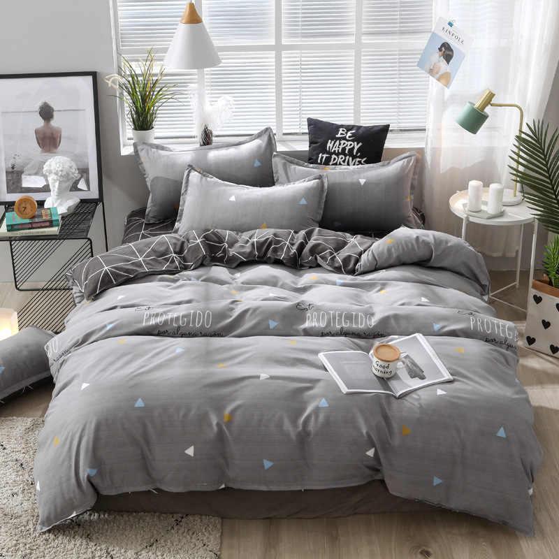 Домашний текстиль, летний комплект постельного белья, плоский лист, геометрический Комплект постельного белья, леопардовое постельное белье, белая сетка, пододеяльник, набор king size
