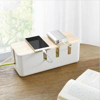 Home Cable Storage Box Power Socket Case Hollow Wire Cord Safety Tidy Organizer Display Container Home Garden Supplies with cove