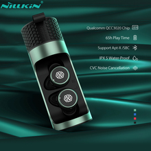 NILLKIN 진정한 무선 이어폰 블루투스 5.0 무선 이어폰 마이크 미니 CVC 소음 감소 IPX5 방수 스포츠 헤드셋