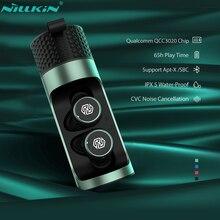 NILLKIN prawdziwe bezprzewodowe wkładki douszne Bluetooth 5.0 bezprzewodowe słuchawki z mikrofonem Mini CVC redukcja szumów IPX5 wodoodporny zestaw słuchawkowy dla aktywnych