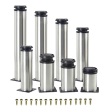 Furniture-Legs-Feet Bed-Feet Sofa Cabinet Table Stainless-Steel 1pcs 5CM-35CM