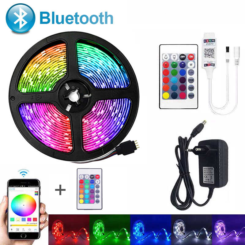 Bluetooth Led Strip Verlichting Smd 5050RGB Flexibele Lint Waterdicht 2835RGB Led Licht 5M 10M 15M Tape Diode 12V Bluetooth Controle