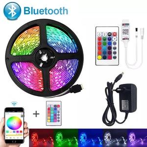 Bluetooth luces de tira de LED SMD 5050RGB cinta Flexible impermeable 2835RGB luz LED 5M 10M 15M cinta de 12V 12V Control Bluetooth