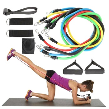 11pcs Pull Rope Fitness Exercises Resistance Bands Set Training Yoga Band Gym Fitness Equipment new фото