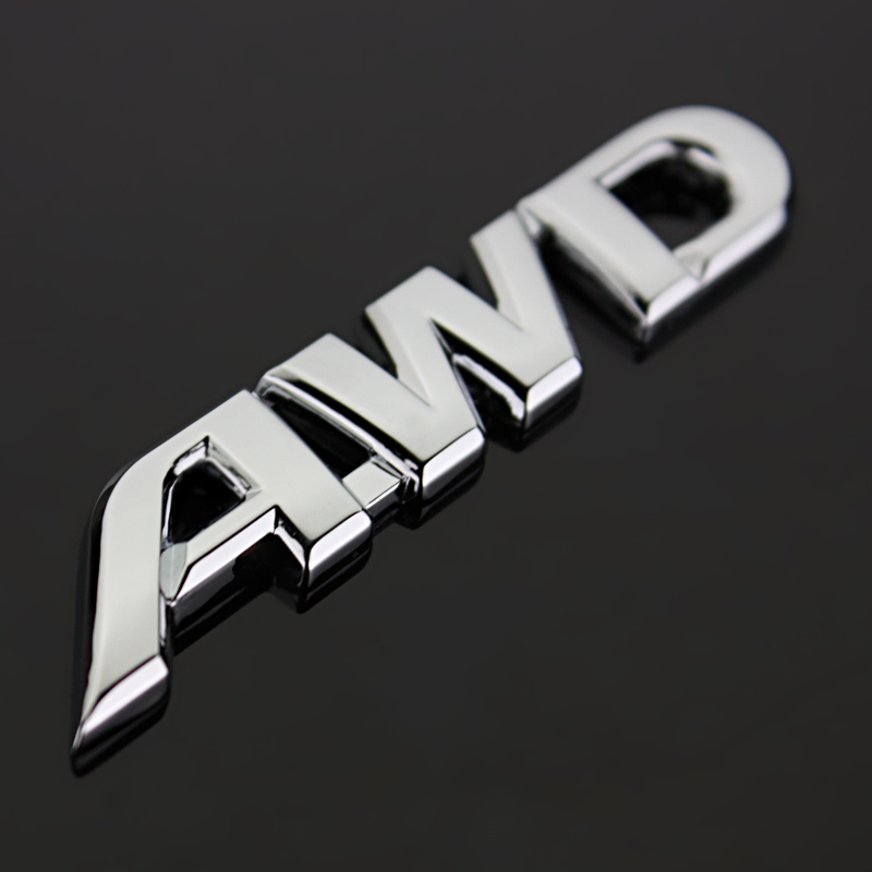 <font><b>Car</b></font> Emblem <font><b>4</b></font> <font><b>Wheel</b></font> <font><b>Drive</b></font> Metal AWD V6 LIMINTED Badge Logo Sticker Fender Trunk Emblem Decal For Honda <font><b>Toyota</b></font> Off Road image