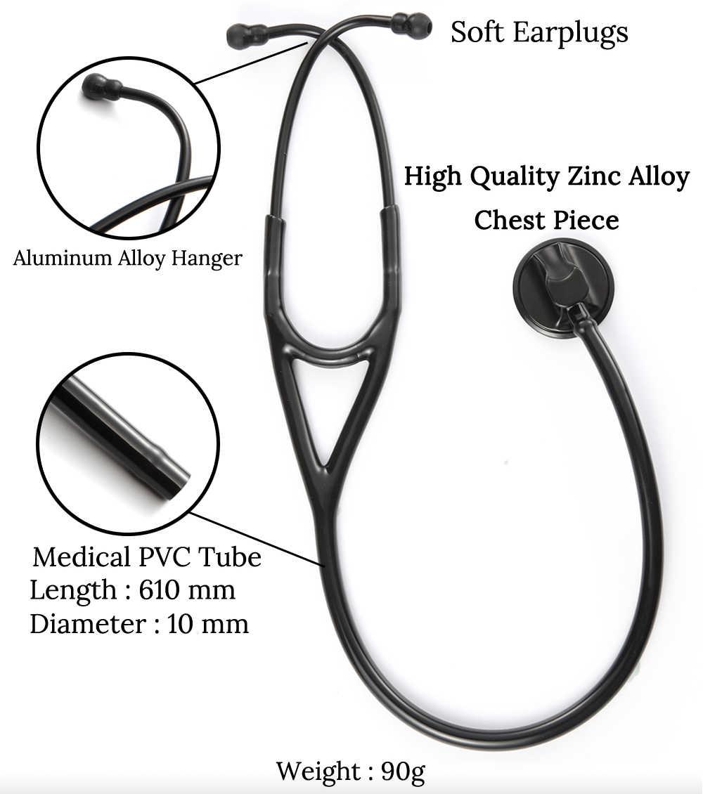 Medis Kardiologi Stetoskop Jantung Ductor Perawat Fonendoskop Profesional Tunggal Kepala Medis Auskultasi Perangkat Peralatan