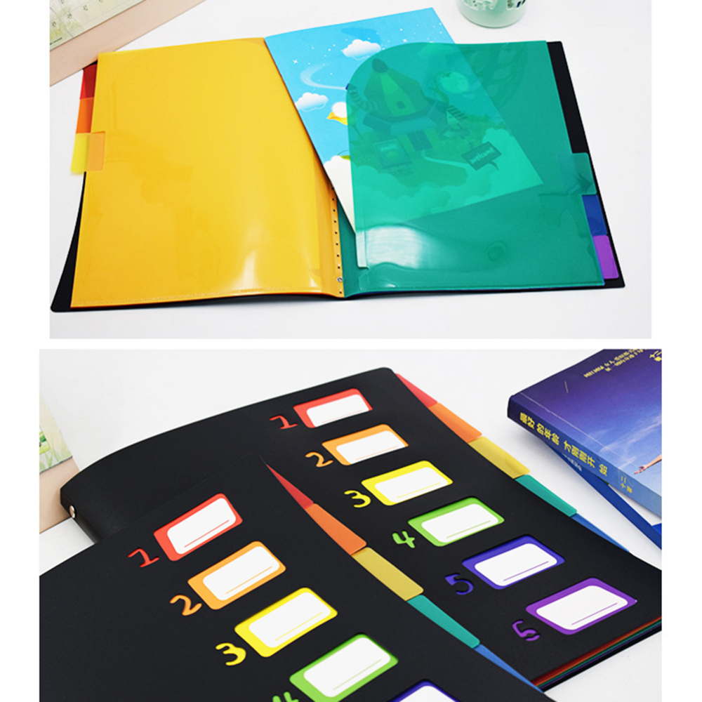 A4 Expanding File Organizer 6 Pockets Accordion Folders Letter Size Hold 120 Sheets For  Office School File Storage 31.5*25cm