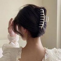 Fermagli per capelli da donna in metallo di grandi dimensioni fermagli per capelli di granchio fermagli per capelli geometrici in argento dorato barrette da donna INS accessori per capelli con Clip di cattura