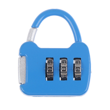 Padlock Anti-Theft Backpack Combination Resettable Travel 3-Digit Mini School-Bag Zinc-Alloy