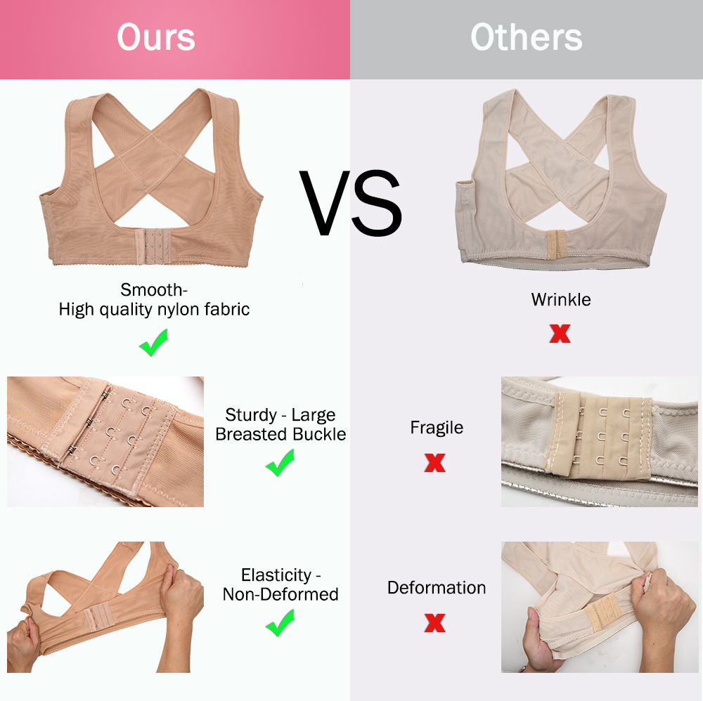 Women Breast Correction Chest Support Belt Posture Corrector Body Shaper Shoulder Brace Chest Care Corset Lift Tool Bra S XL in Bras from Underwear Sleepwears