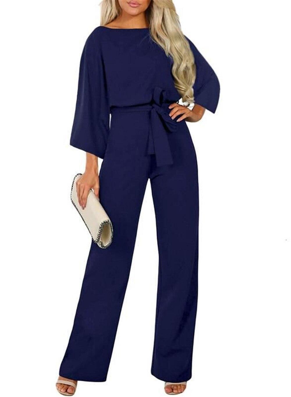 Plus Size Women/'s Jumpsuit Short Sleeve Belt Wide Leg Party Long Romper Playsuit