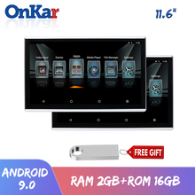 Onkar Auto Hoofdsteun Met Monitor Android 9.0 11.6 Inch Ram 2Gb Rom 16Gb Met Hdmi In/Out 4K 1080P Video Screen Mirroring Usb
