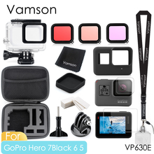 Vamson 移動プロヒーロー 7 6 5 黒防水保護ハウジングケースダイビング 60 メートル付属品キットのための 7 6 5 カメラ VP630