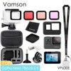 Vamson – boîtier de Protection noir étanche pour caméra Gopro Hero 7 6 5, kit d'accessoires pour plongée 60M, VP630