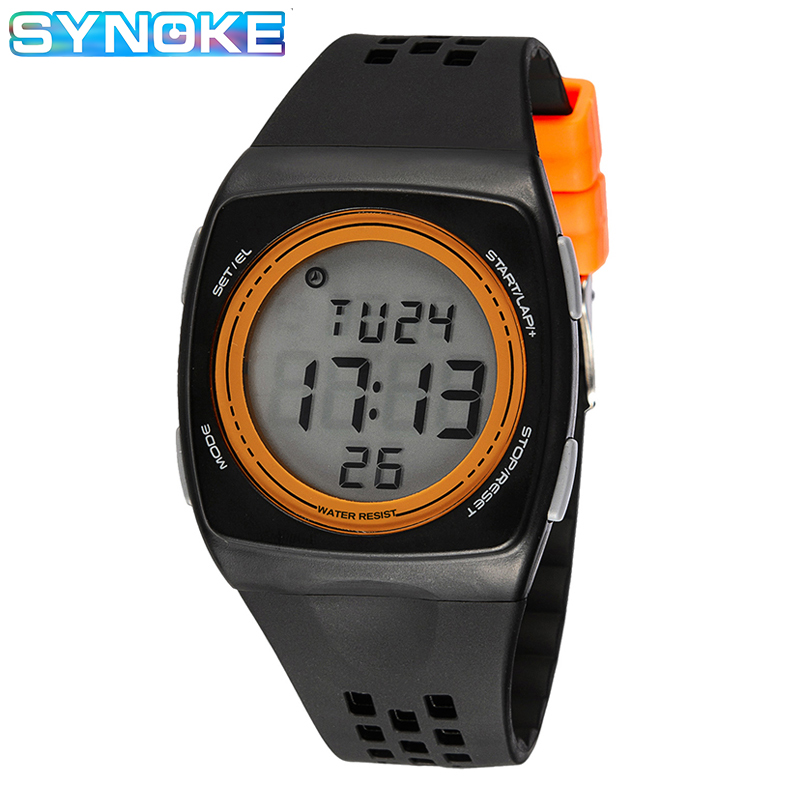 SYNOKE Sports Electronic Watch Kids Girls Boys Wristwatches 30m Waterproof Led Alarm Clock Multifunction Child Gift 2019