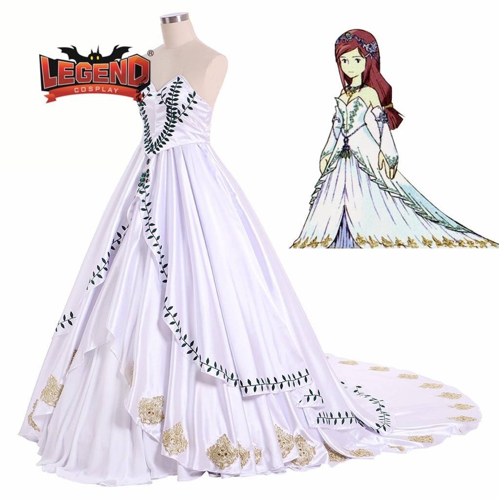 Final fantasy IX PRINCESS Garnet Til Alexandros COSPLAY costume Wedding  Dress