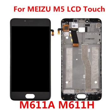 Dla MEIZU M5 wyświetlacz dotykowy ekran LCD Digitizer z ramką M611H M611A M611D M611Y moduł wyświetlacza wymiana wyświetlacza LCD tanie i dobre opinie JIEYER Pojemnościowy ekran 1920x1080 3 LCD i ekran dotykowy Digitizer
