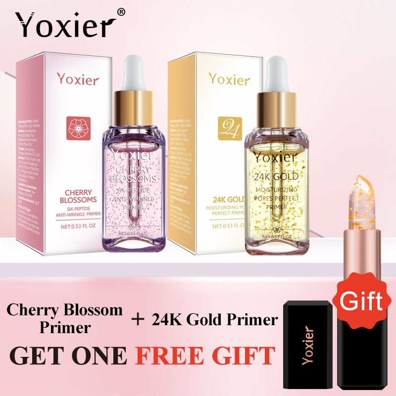 Yoxier Makeup Base 24k Gold Elixir Oil Control Moisturizing Whitening Essence Professional Matte Serum Series Foundation Primer