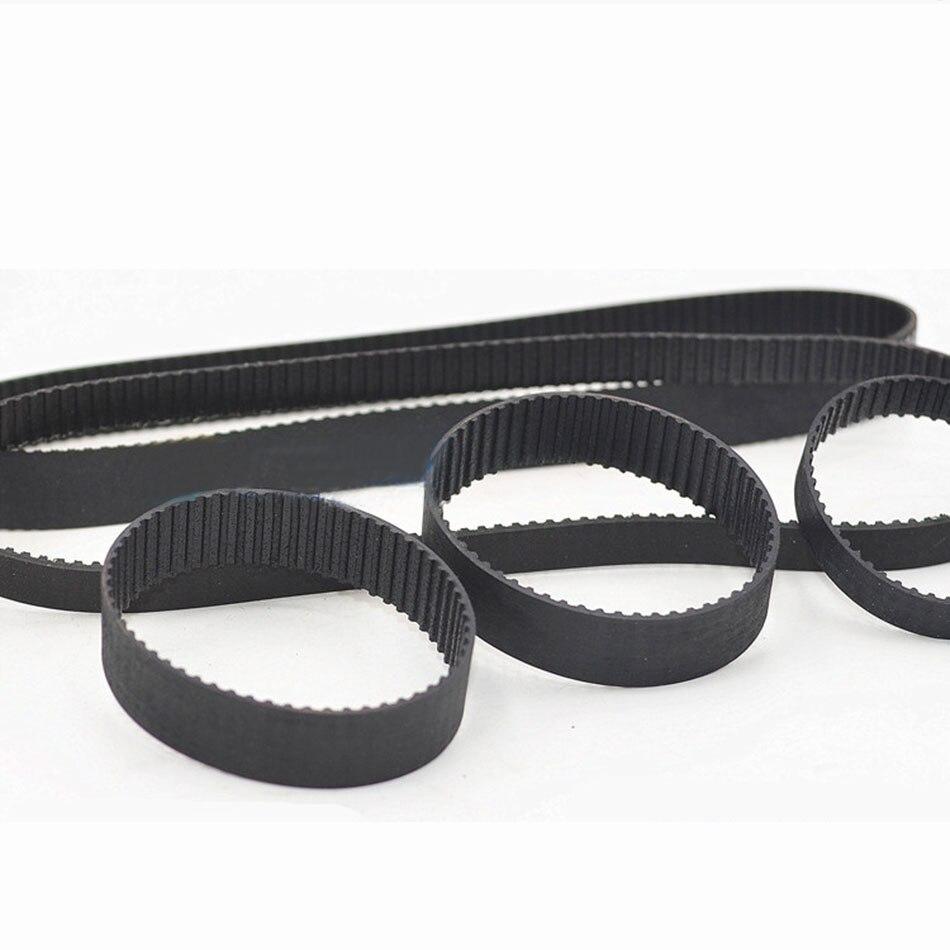 1 pièces 73MXL à 82MXL courroie de distribution à boucle fermée courroies d'entraînement synchrones en caoutchouc noir largeur 6mm 10mm