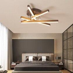 Kreatywne lampy sufitowe LED brązowe aluminium nowoczesna lampa sufitowa restauracja badania salon biuro oświetlenie domu plafondlamp
