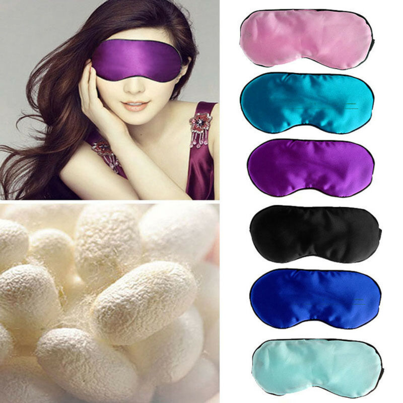 2019 Solid Luxurious Velour Personalised Sleep/Eye Mask Blindfold Sleep Aid Shade Cover Migraine Gift Soft Padded Travel Spa