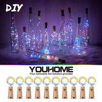 5/10 paquetes de luces LED para botellas de vino 2M 20LEDs a prueba de agua luz LED de corcho DIY para decoración de boda, Halloween de Navidad con batería