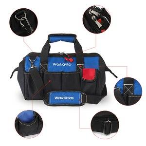 "Image 2 - WORKPRO 14"" Tool Bags Waterproof Base Tool Storage Bags Shoulder Bag Handbag Free Shipping"