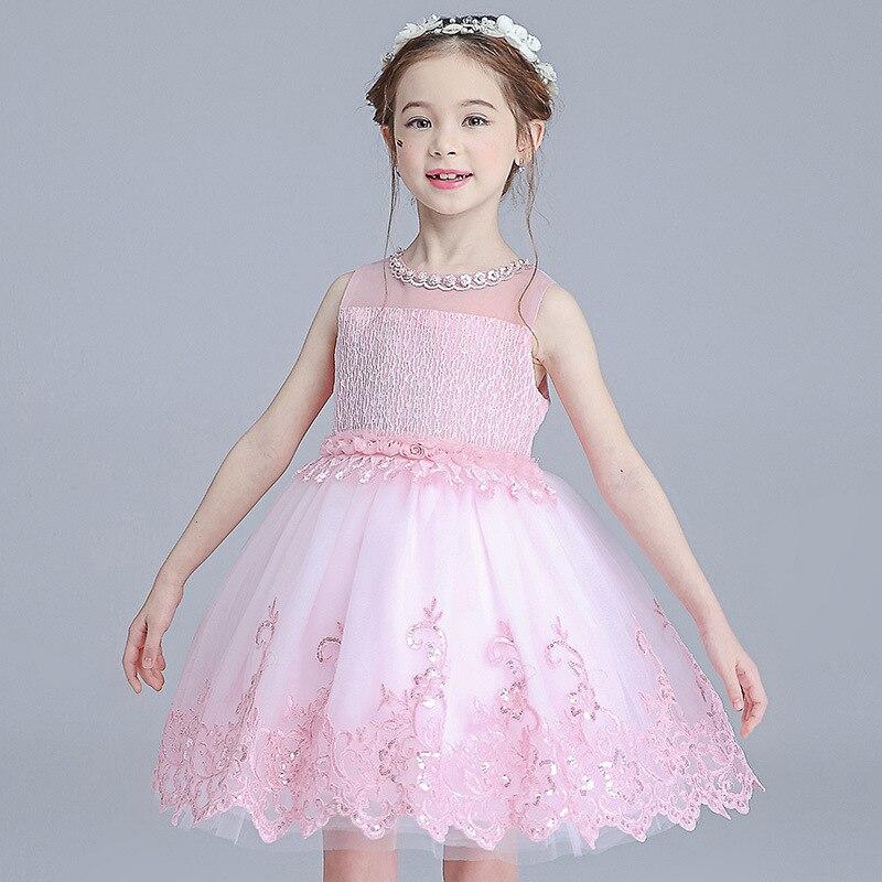 Girls Dress Princess Dress CHILDREN'S Dress Piano Costume Dresses Of Bride Fellow Kids Wedding Dress Tutu Summer Wear Women's