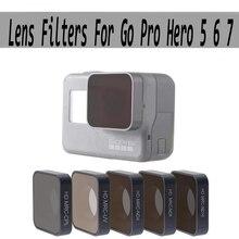 FOTOFLY Go Pro hero 5 6 7 accessori per obiettivi UV CPL ND 4 8 16 Set di filtri a densità neutra per GoPro hero 5/6/7 Black Action Camera