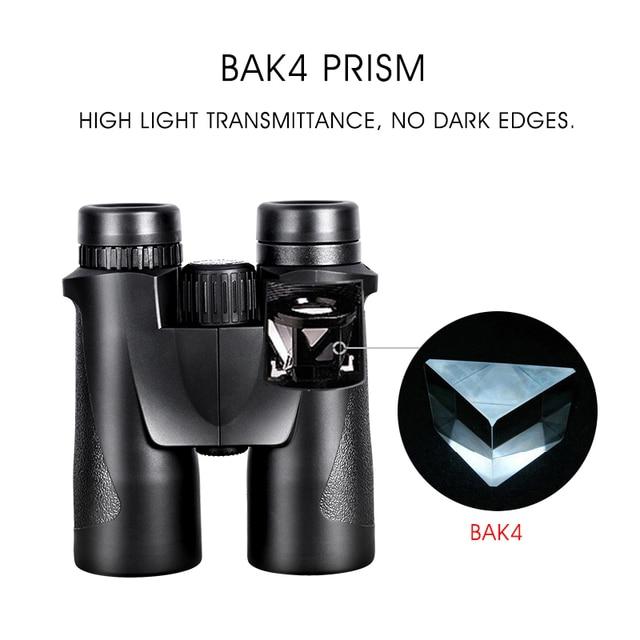 10x42 Binoculars Hunting and Tourism BAK4 Prism FMC Coating HD Low Light Night Vision Professional Powerful Military Telescope 4