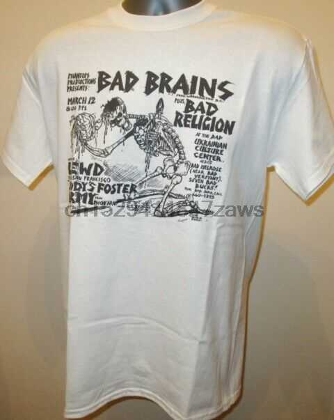Bad Brains Skelet Poster T-shirt Hardcore Punk Muziek Religie Jfa Fishbone 018