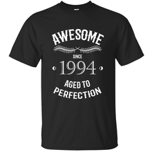 Custom Humor you're incredibly awesome since 1994 for ootd t shirt for men 2020 Kawaii solid color men tshirt round Neck(China)