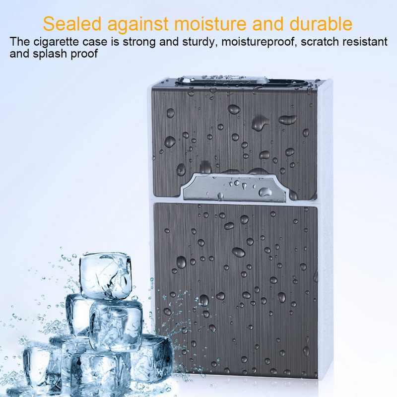 Baru 2-In-1 Portable Rokok Case Kotak Lebih Ringan Tahan Air Kotak Rokok USB Pengisian Listrik Tahan Angin Flameless Ringan