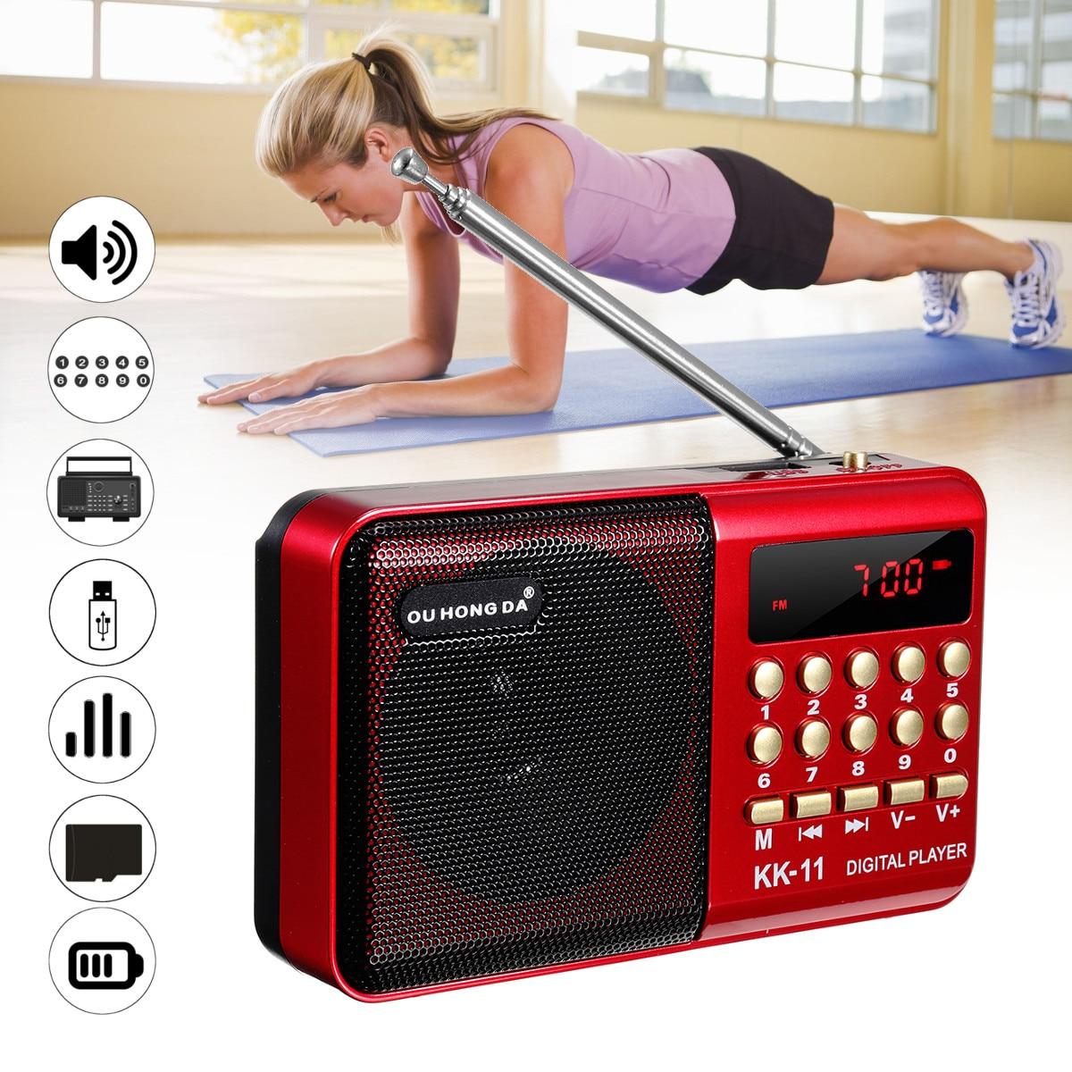 Мини портативный радио плеер Ручной цифровой FM USB TF MP3 музыкальный плеер динамик перезаряжаемый|Радиоприёмники|   | АлиЭкспресс