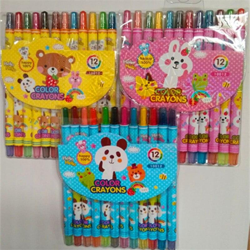 Stationery Creative New Rotating Crayon Pupils Painting Crayons